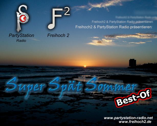 Cover des »Super SpätSommer Spezials« von PartyStation Radio und frei²