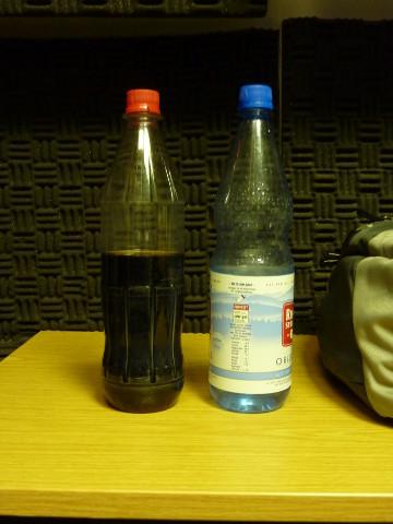 Verpflegung für die Frei House Disco Nacht #5: Cola, Wasser
