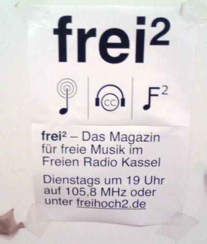 Werbung für frei² im Kasseler K19