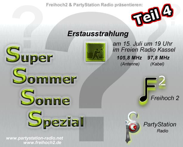 CD-Cover zu Teil4 des Super Sommer Sonne Spezials von frei² und PartyStation Radio