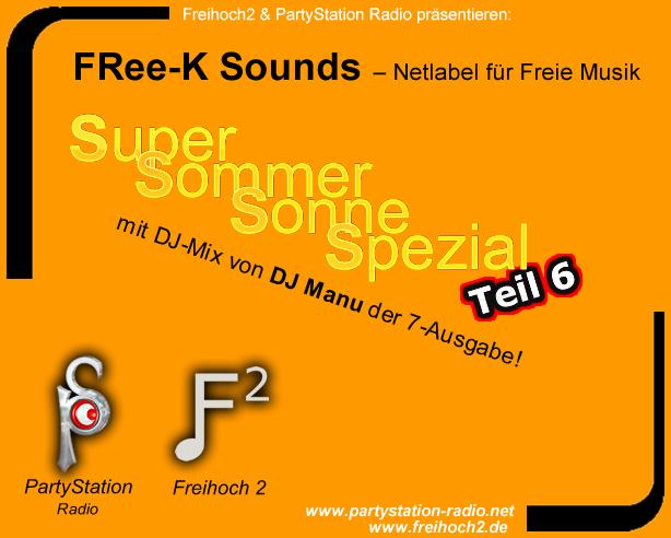 Cover des »Super Sommer Sonne Spezials« von PartyStation Radio und frei²